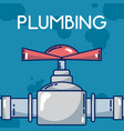 pumbling and pipeline vector image vector image