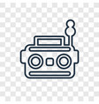 radio concept linear icon isolated on transparent vector image