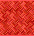 red abstract diagonal striped tile mosaic pattern vector image vector image