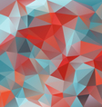 red blue triangular pattern background vector image vector image