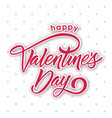 red happy valentines day blue dots white blackgrou vector image vector image