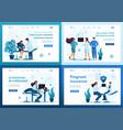 set 2d concepts work medical personnel vector image vector image