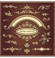 set of decorative elements in vintage style for vector image