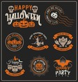 Set of Halloween badge label and frames design vector image vector image