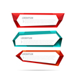 Set of label banner polygon element background vector image