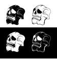 set of skulls abstract design template vector image vector image