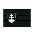 slovakia flag monochrome on white background vector image