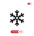 snowflake outline icon vector image