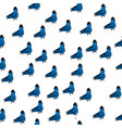 spring birds seamless pattern dove with cylinder vector image