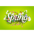 spring text lettering background with vector image