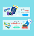 travel and tourism advertisement banner vector image vector image
