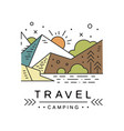 travel camping logo design adventure travel vector image vector image