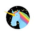 Unicorn fabulous beast with horn Magic animal with vector image