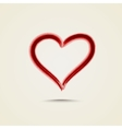 Watercolor red painted heart vector image