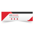 web header red black design white background vector image