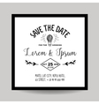 wedding invitation card - save date vector image vector image