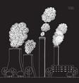 white smokestack on black background vector image