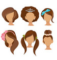 woman hairstyles young girls stylish hair items vector image