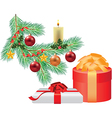 branche decorations two gifts vector image