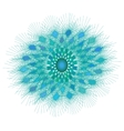 Beautiful turquoise circular ornament vector image