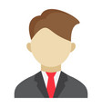 businessman flat icon business and person vector image
