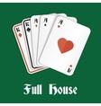 Poker hand full house vector image