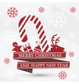 Simple white christmas card vector image