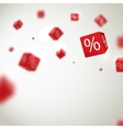 3D red discount boxes dice for store market and vector image vector image