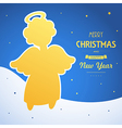 angel card square 18 vector image vector image