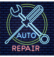 automotive industry card vector image vector image