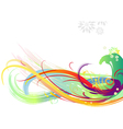 background color brush strokes vector image vector image