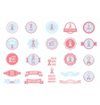 badges collection Design elements Breast vector image vector image