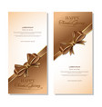 banners template set for thanksgiving day vector image vector image