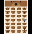 Bear emoji icons vector image vector image