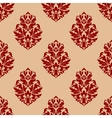 Beige and red seamless damask pattern vector image vector image