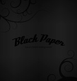 Black Paper vector image vector image