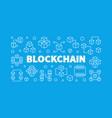 blockchain concept horizontal outline vector image vector image