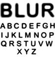 Blur alphabet vector image vector image