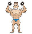 Bodybuilder isolated on white vector image