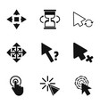 boom icons set simple style vector image