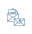 business correspondence line icon concept vector image vector image