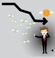 Business failures and financial vector image vector image