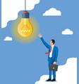 businessman with biefcase creates new idea vector image