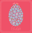card with egg from flowers of forget-me-nots vector image vector image
