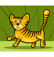 cartoon of little tiger vector image vector image
