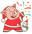 cartoon pig vector image vector image
