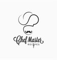 chef master logo on retro white background vector image