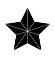 christmas star of bethlehem silhouette symbol vector image