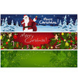 Collection three christmas banners