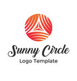colorful circle lines symbol logo template vector image vector image